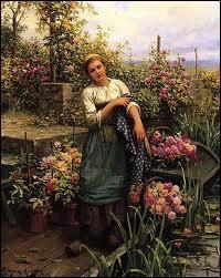 Quel peintre américain est l'auteur de la toile  Le bateau de fleurs  ?