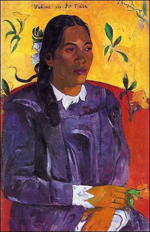 Qui a peint  Femme avec une fleur  ?
