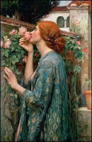 Quel peintre britannique préraphaélite est l'auteur de la toile  Ma douce rose  ?