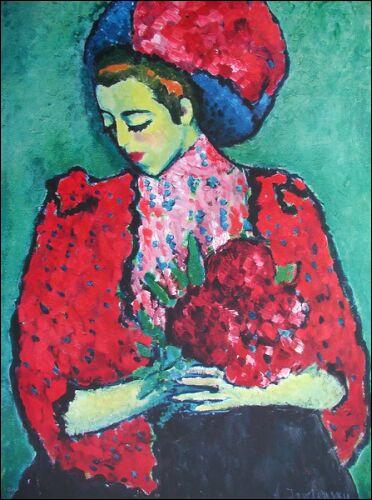 Qui a peint  La jeune fille aux pivoines  ?