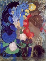 Qui a peint  Femme entre les fleurs  ?