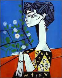 Qui a peint  Jacqueline avec les fleurs  ?