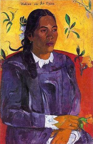 Femmes avec fleurs en peinture