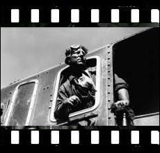 Film de 1938, adapté d'un roman d'Emile Zola et réalisé par Jean Renoir avec Jean Gabin, Fernand Ledoux et   Lison   la locomotive à vapeur ... .