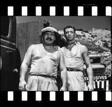 Film d'aventures d'Henri-Georges Clouzot de 1953 aux enchaînements de morceaux de bravoure et à la tension permanente avec Yves Montand et Charles Vanel ... .