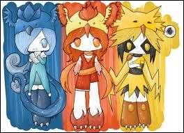 Ces personnages nous rappellent trois Pokémons, lesquels ?