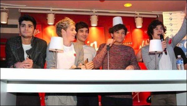 Quand les One Direction sont-ils venus à Paris ?