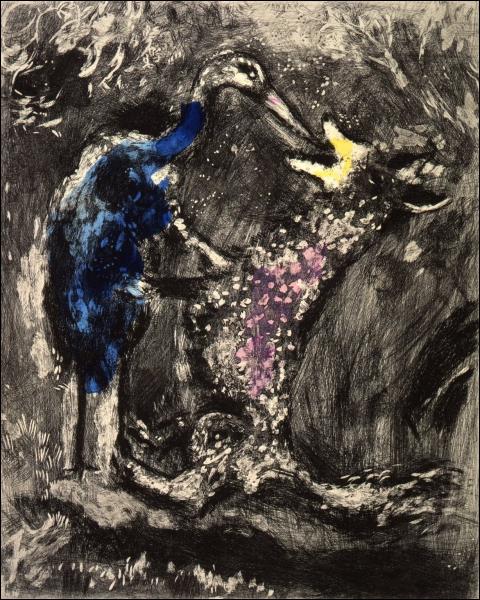 De quelle fable s'est inspiré Chagall pour cette toile ?