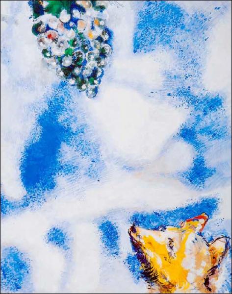 Quelle fable de La Fontaine a inspiré ce tableau à Chagall ?