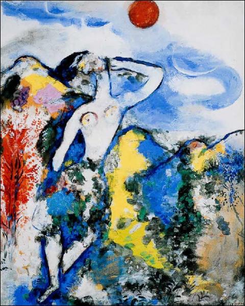 Quelle fable a inspiré, ici, Chagall ?