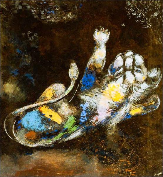 Quelle fable illustre bien ce tableau de Chagall ?