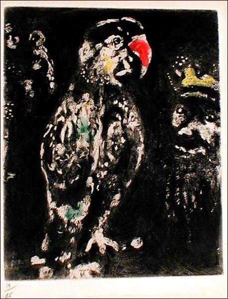 Quel est le titre de la fable qui a inspiré Chagall ?