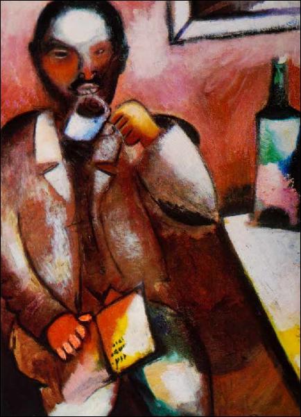Est-ce Chagall qui a peint Le poète Mazin ?