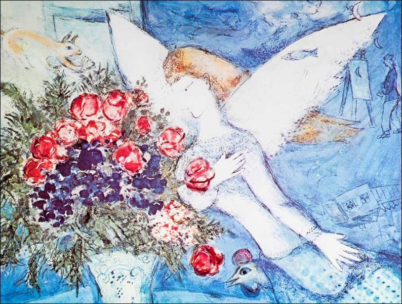 Est-ce Chagall qui a peint L'ange bleu ?