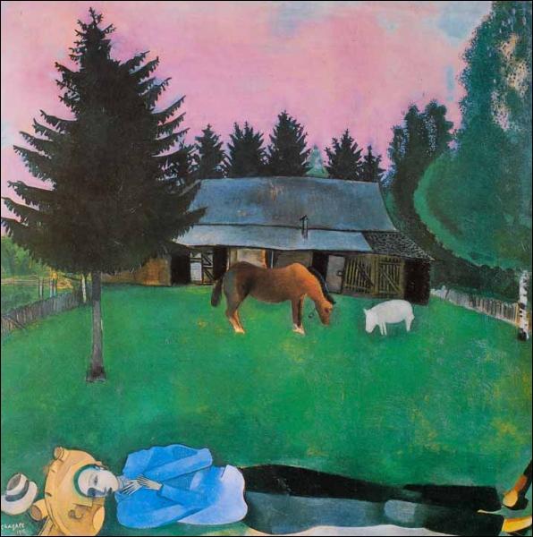 Est-ce Chagall qui a peint Le poète allongé ?