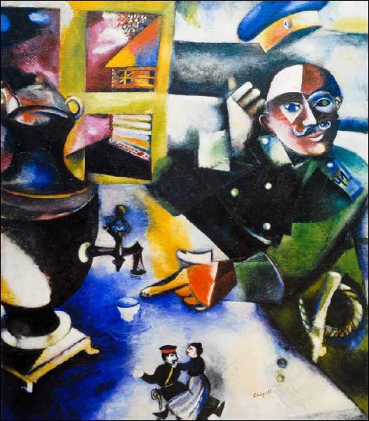 Est-ce Chagall qui a peint Le soldat boit ?