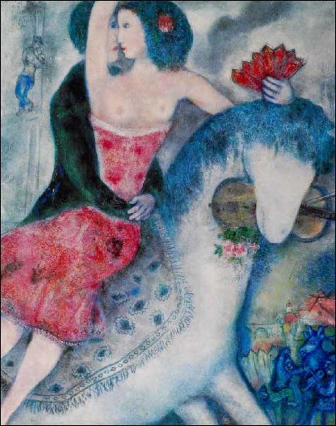 Est-ce Chagall qui a peint L'écuyère ?