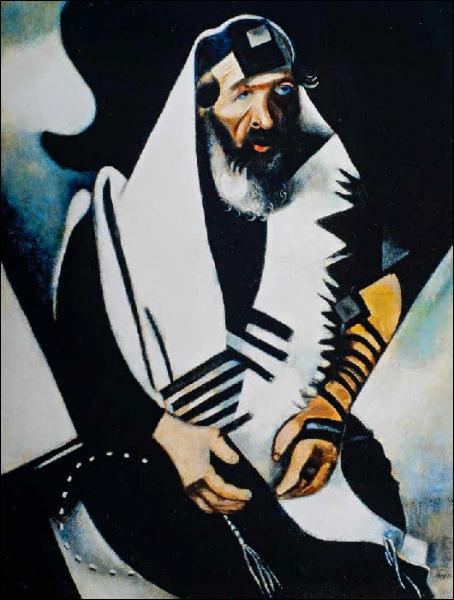 Est-ce Chagall qui a pient Le rabin de Vitebsk ?
