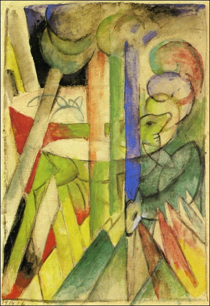 Est-ce Chagall qui a peint Chèvres de montagne ?