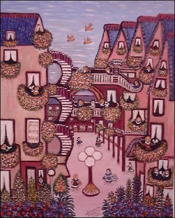 Est-ce Chagall qui a peint ce village ?