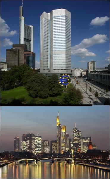 Dans quelle ville se situe la Banque centrale européenne ?