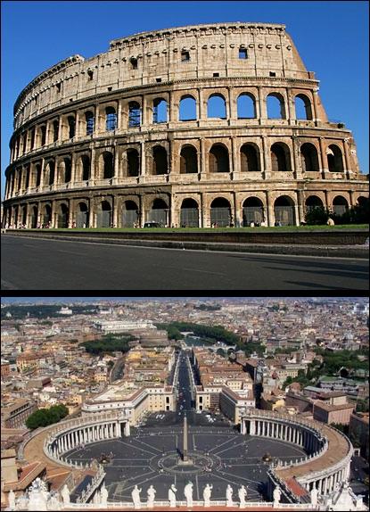 Dans quelle capitale peut-on visiter le Colisée et la place Saint-Pierre ?