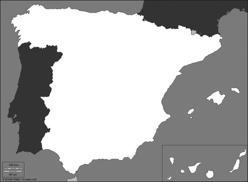 Quel est ce pays qui occupe la plus grande partie de la péninsule ibérique ?