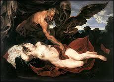 Epouse d'Amphitryon, en son absence, elle fut abusée par Zeus qui avait pris les traits d'Amphitryon son époux qui voulut la brûler. Zeus la sauva par une pluie soudaine.