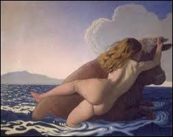 En voyant cette jeune beauté, Zeus tomba amoureux. pour éviter la jalousie d'Héra, il se métamorphosa en taureau blanc aux cornes dorées et l'enleva à travers les flots, jusqu'en Crète.