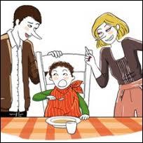 Qui chantait  attention, prends pas froid, ou sinon gare à toi, mange ta soupe, allez brosse toi les dents...   ?