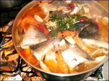 La soupe de poisson caldeirada, est une spécialité :