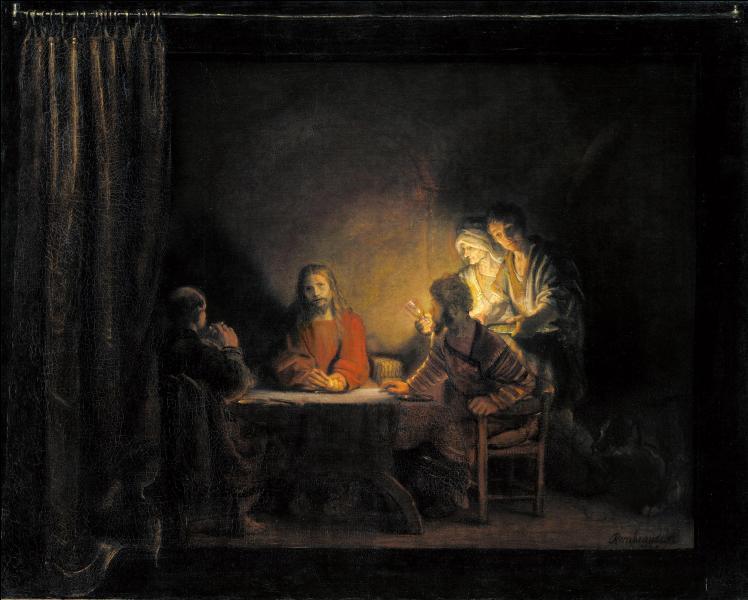 Qui a peint  Le souper d'Emmaus  ?