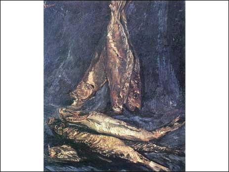 Qui a peint Nature morte avec des poissons ?