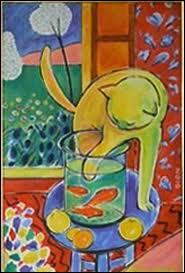 Qui a peint Le chat aux poissons rouges ?