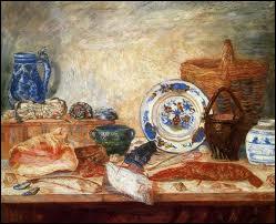 Qui a peint Poissons homard et coquillages ?