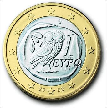 Dans quel pays peut-on voir une chouette sur la pièce de 1€ ?