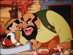 Quel affreux marionnettiste enferme Pinocchio dans une cage pour l'exhiber dans ses spectacles ?
