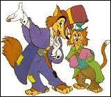 Sur le chemin de l'école, Pinocchio se fait accoster par 2 escrocs. Comment s'appelle le renard ?