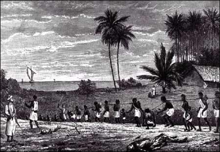 L'esclavage reprend en 1674 pour peupler l'Amérique. Comment s'appelle cette traite ?