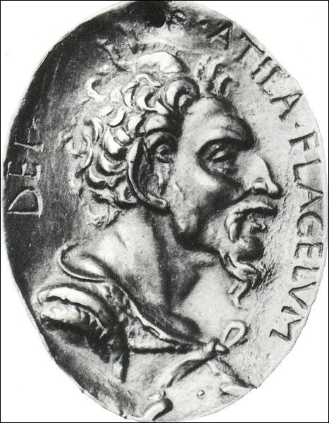 Chef des Huns et un des ennemis les plus redoutés par les Empires romains de l'Est et de l'Ouest, son surnom était  le fléau de Dieu . Il s'agit de :