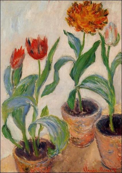 Tulipes - par le premier  impressionniste  français (1840-1926)