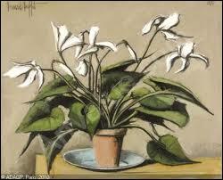 Nature morte aux fleurs, 1976 par un peintre figuratif français de la seconde moitié du XXe siècle (1928-1999)