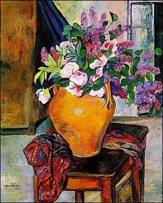 Lilas et pivoines, 1933 - par la mère de Maurice Utrillo
