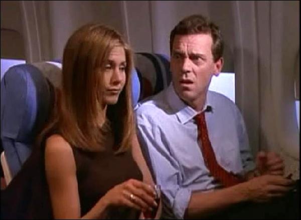 Hugh Laurie joue le voisin de Rachel dans l'avion qui va à :
