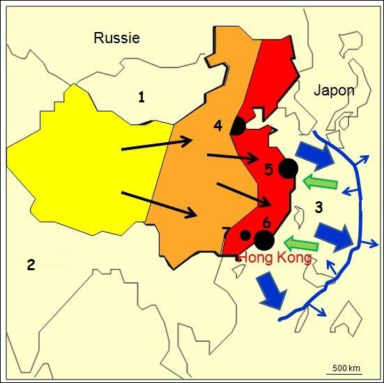 A quoi correspond la zone en rouge ?