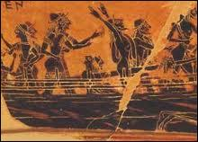 Il embarque à son bord accompagné de 50 hommes héroïques. Comment se nomment-ils ?