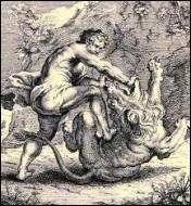 Parmi eux se trouve le héros mythique qui avait tué le lion de Némée. Quel est son nom ?