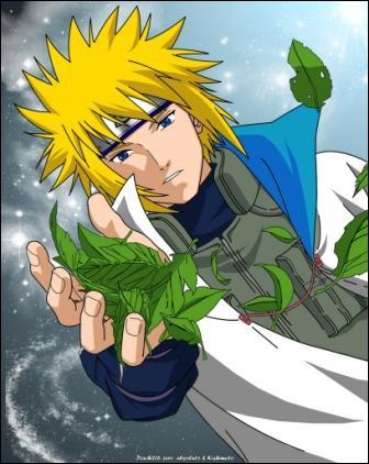 L'éclair jaune de Konoha  est l'expression par laquelle on désigne ce personnage. De qui s'agit-il ?