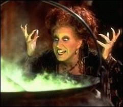 La grande Bette Midler au dessus d'un chaudron exerce ses talents maléfiques un soir d'halloween, aidée par ses deux soeurs. C'est dans ?