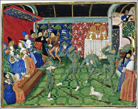 Rue des Gobelins s'élevait jadis l'hôtel de la Reine-Blanche. Un bal y fut organisé pour le roi Charles VI en 1393, qui se termina tragiquement : 4 gentilshommes périrent brûlés. Il s'agit du :